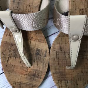 Coach Shoes - Coach Bernadette patent/cork wedge sandal